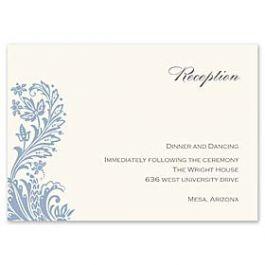 Truly by William Arthur Truly Weddings - Digital 123386 123307 Reception Card