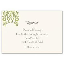 Truly by William Arthur Truly Weddings - Digital 123388 123308 Reception Card