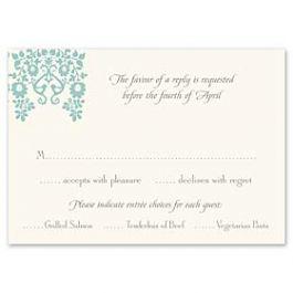 Truly by William Arthur Truly Weddings - Digital 123389 123309 Response Card