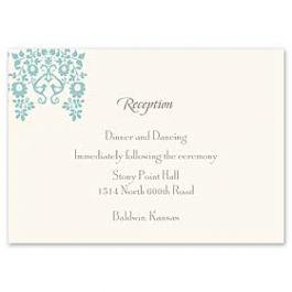 Truly by William Arthur Truly Weddings - Digital 123390 123309 Reception Card