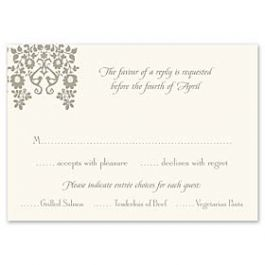 Truly by William Arthur Truly Weddings - Digital 123391 123310 Response Card