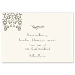 Truly by William Arthur Truly Weddings - Digital 123392 123310 Reception Card