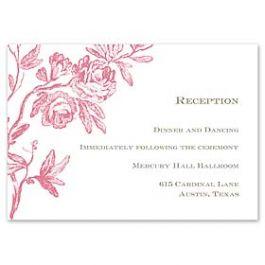 Truly by William Arthur Truly Weddings - Digital 123394 123311 Reception Card