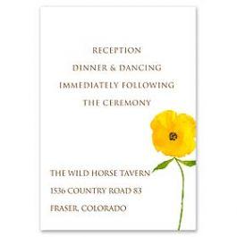 Truly by William Arthur Truly Weddings - Digital 123407 123317 Reception Card