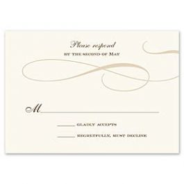 Truly by William Arthur Truly Weddings - Digital 123428 123329 Response Card