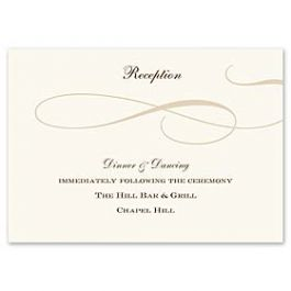 Truly by William Arthur Truly Weddings - Digital 123429 123329 Reception Card