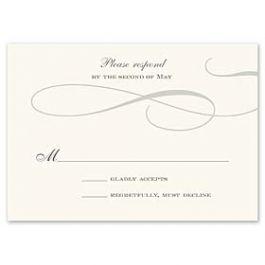 Truly by William Arthur Truly Weddings - Digital 123430 123330 Response Card