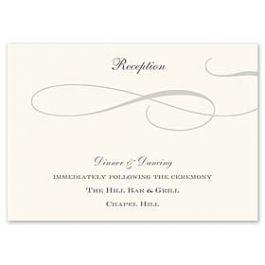 Truly by William Arthur Truly Weddings - Digital 123431 123330 Reception Card