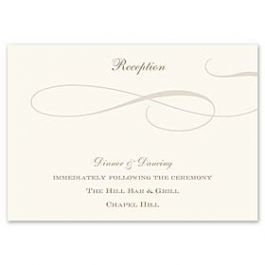 Truly by William Arthur Truly Weddings - Digital 123433 123331 Reception Card