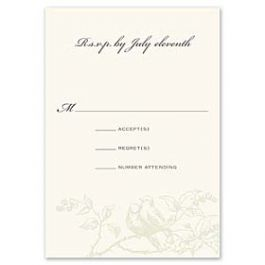 Truly by William Arthur Truly Weddings - Digital 123434 123332 Response Card