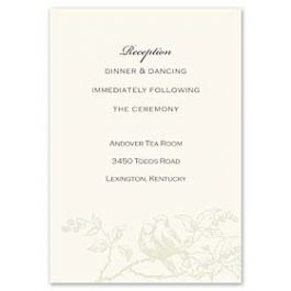 Truly by William Arthur Truly Weddings - Digital 123435 123332 Reception Card