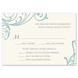 Truly by William Arthur Truly Weddings - Digital 123440 123335 Response Card