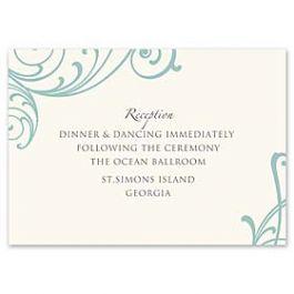 Truly by William Arthur Truly Weddings - Digital 123441 123335 Reception Card