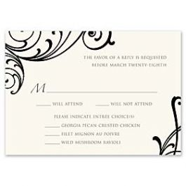 Truly by William Arthur Truly Weddings - Digital 123444 123337 Response Card