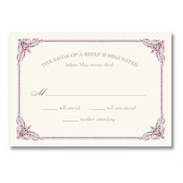 Truly by William Arthur Truly Weddings - Digital 125694 125686 Response Card