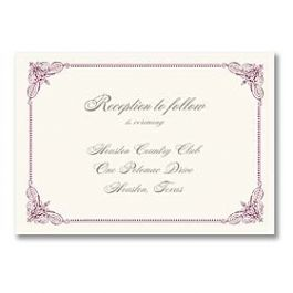 Truly by William Arthur Truly Weddings - Digital 125695 125686 Reception Card