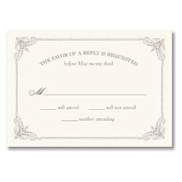 Truly by William Arthur Truly Weddings - Digital 125696 125687 Response Card