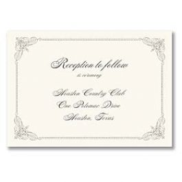Truly by William Arthur Truly Weddings - Digital 125697 125687 Reception Card