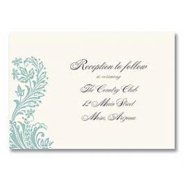 Truly by William Arthur Truly Weddings - Digital 125701 125689 Reception Card