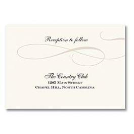 Truly by William Arthur Truly Weddings - Digital 125706 125690 Reception Card