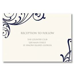 Truly by William Arthur Truly Weddings - Digital 125710 125692 Reception Card