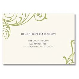 Truly by William Arthur Truly Weddings - Digital 125712 125693 Reception Card