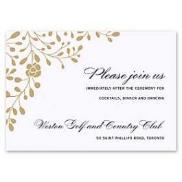 Truly by William Arthur Truly Weddings - Digital 126996 126986 Reception Card