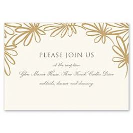 Truly by William Arthur Truly Weddings - Digital 126998 126987 Reception Card