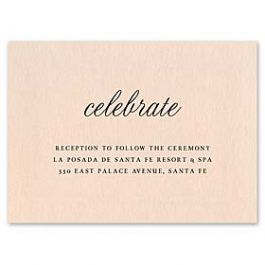 Truly by William Arthur Wedding 2018 129684 129664 Reception Card