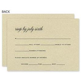 Truly by William Arthur Wedding 2018 129685 129665 Response Card