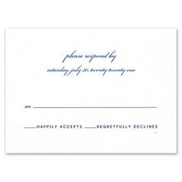 Truly by William Arthur Wedding 2018 129701 129675 Response Card