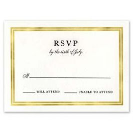 Truly by William Arthur Wedding 2018 129707 129678 Response Card