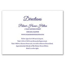 Lolo Lincoln Wedding 124496 124437 Directions Card