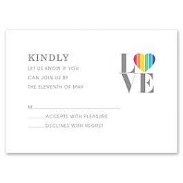Design With Heart Wedding 125790 125578 Response Card