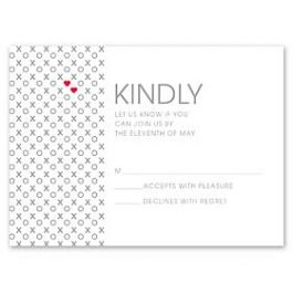 Design With Heart Wedding 125793 125580 Response Card