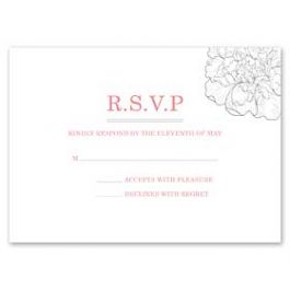 Design With Heart Wedding 125798 125584 Response Card