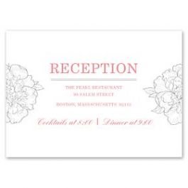 Design With Heart Wedding 125799 125584 Reception Card