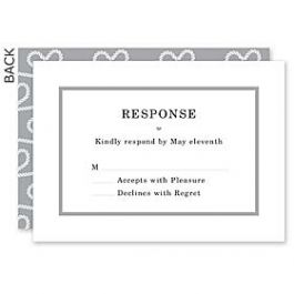 Design With Heart Wedding 125800 125588 Response Card