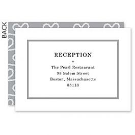 Design With Heart Wedding 125801 125588 Reception Card