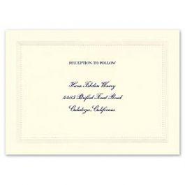 Crane & Co. Crane Wedding 2013 115285 115269 Reception Card
