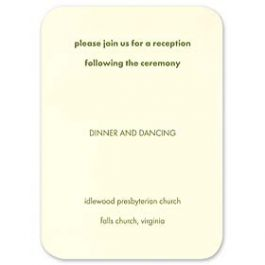 Crane & Co. Crane Wedding 2013 115375 115346 Reception Card