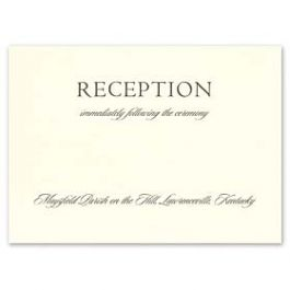 Crane & Co. Crane Wedding 2013 115399 115358 Reception Card