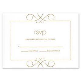 Crane & Co. Crane Wedding 2013 115492 115438 Response Card