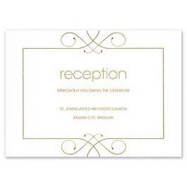 Crane & Co. Crane Wedding 2013 115493 115438 Reception Card