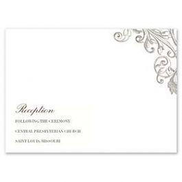 Crane & Co. Crane Wedding 2013 115727 115344 Reception Card