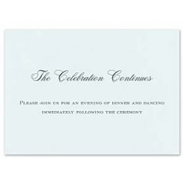 Crane & Co. Crane Wedding 2013 125945 125938 Reception Card