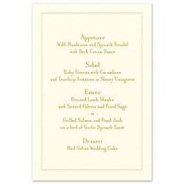 Crane & Co. Crane Wedding 2013 125956 125940 Menu Card