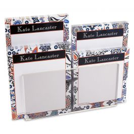 Color Paisley Note Pad Set & Acrylic Holder