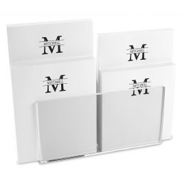 Front & Center Note Pad Set & Acrylic Holder