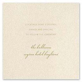 William Arthur Weddings Volume 2 - 2009 90636 90497 Reception Card